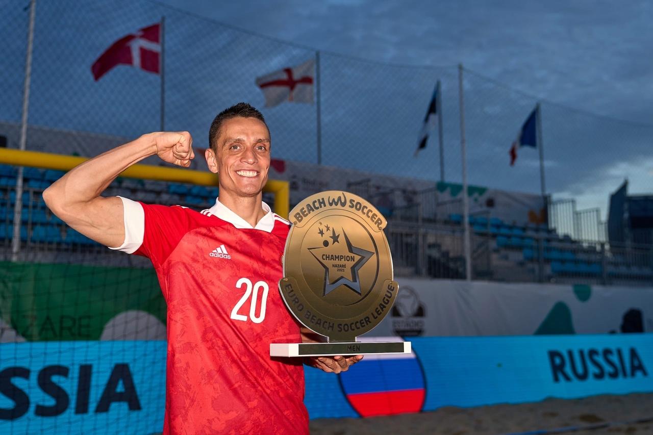 Ярославец стал лучшим бомбардиром чемпионата России по пляжному футболу