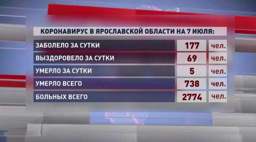Пять человек умерли от коронавируса в Ярославской области, 177 заболели за сутки