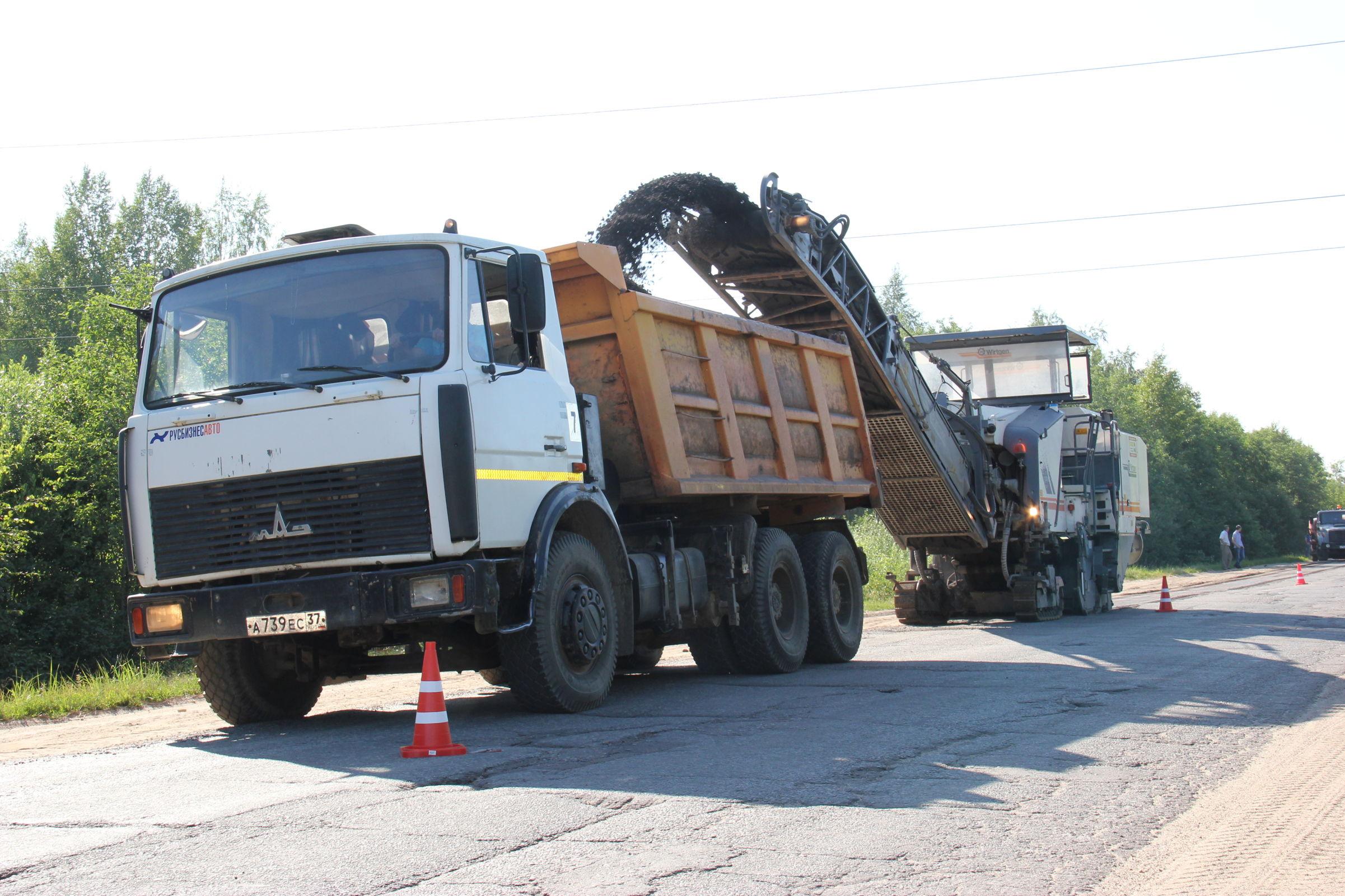 Ремонт на дороге до Шопши в Ярославской области закончится уже этой осенью