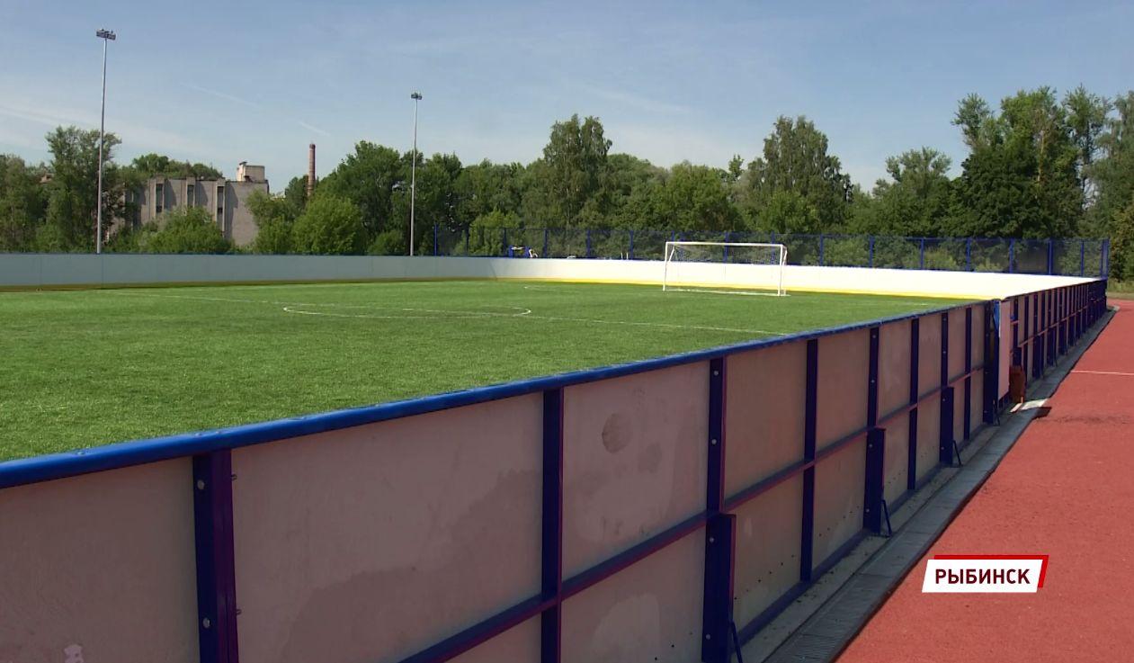 В Рыбинске раньше срока открыли уличный ФОК на месте стадиона «Восход»