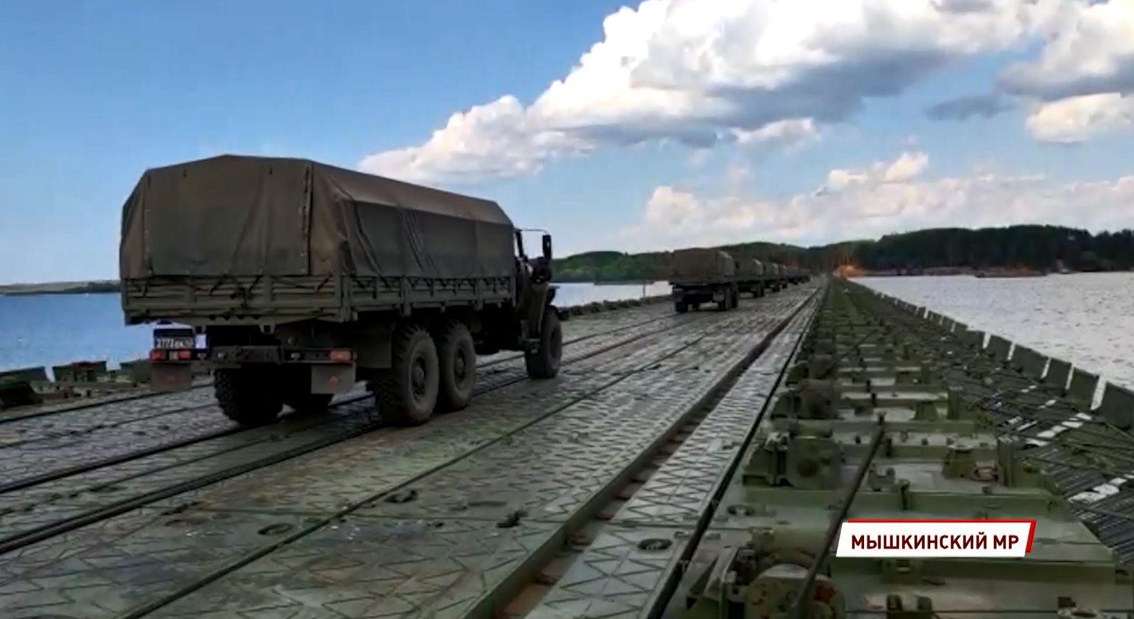 В Мышкинском районе Ярославской области состоялись занятия по боевой подготовке отдельного понтонно-мостового железнодорожного батальона