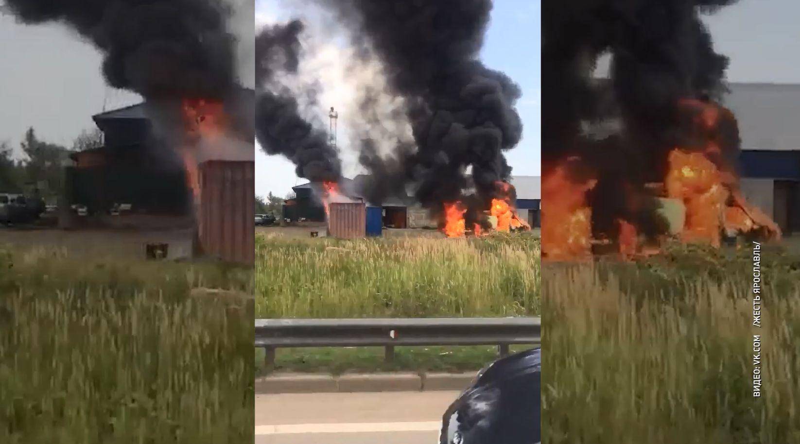 По факту пожара на подпольной заправке в Ярославле возбуждено уголовное дело