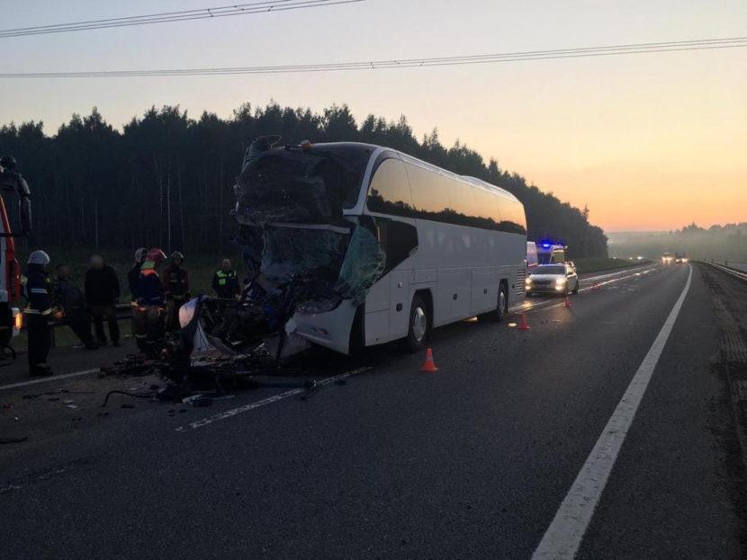 Крупная авария на трассе М-8 – столкнулись грузовик и автобус, двигавшийся со стороны Ярославля в Москву