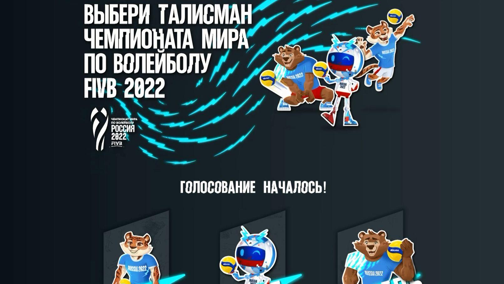 Талисмана Чемпионата мира по волейболу 2022 будут выбирать ярославцы