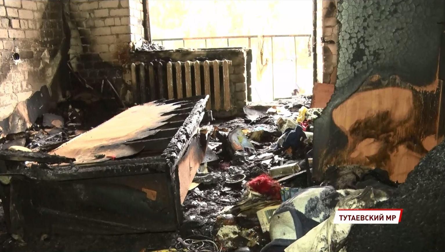 Кто стал виновником пожара в доме поселка Константиновский Ярославкой области – версия местных жителей