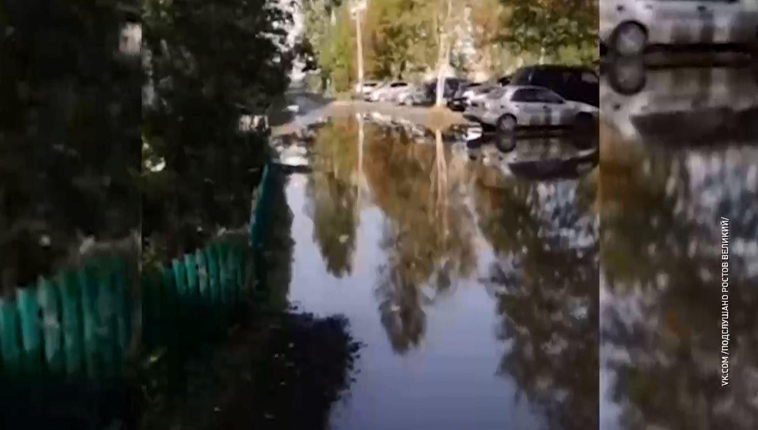 В Ростове Ярославской области заливает дворы