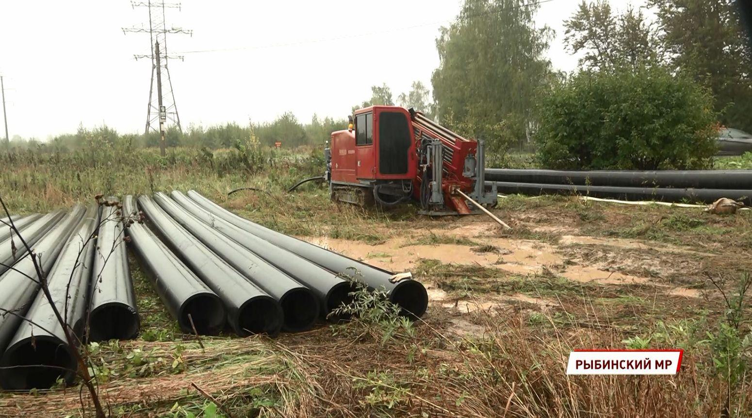 В Рыбинском районе завершается строительство Дюдьковского коллектора