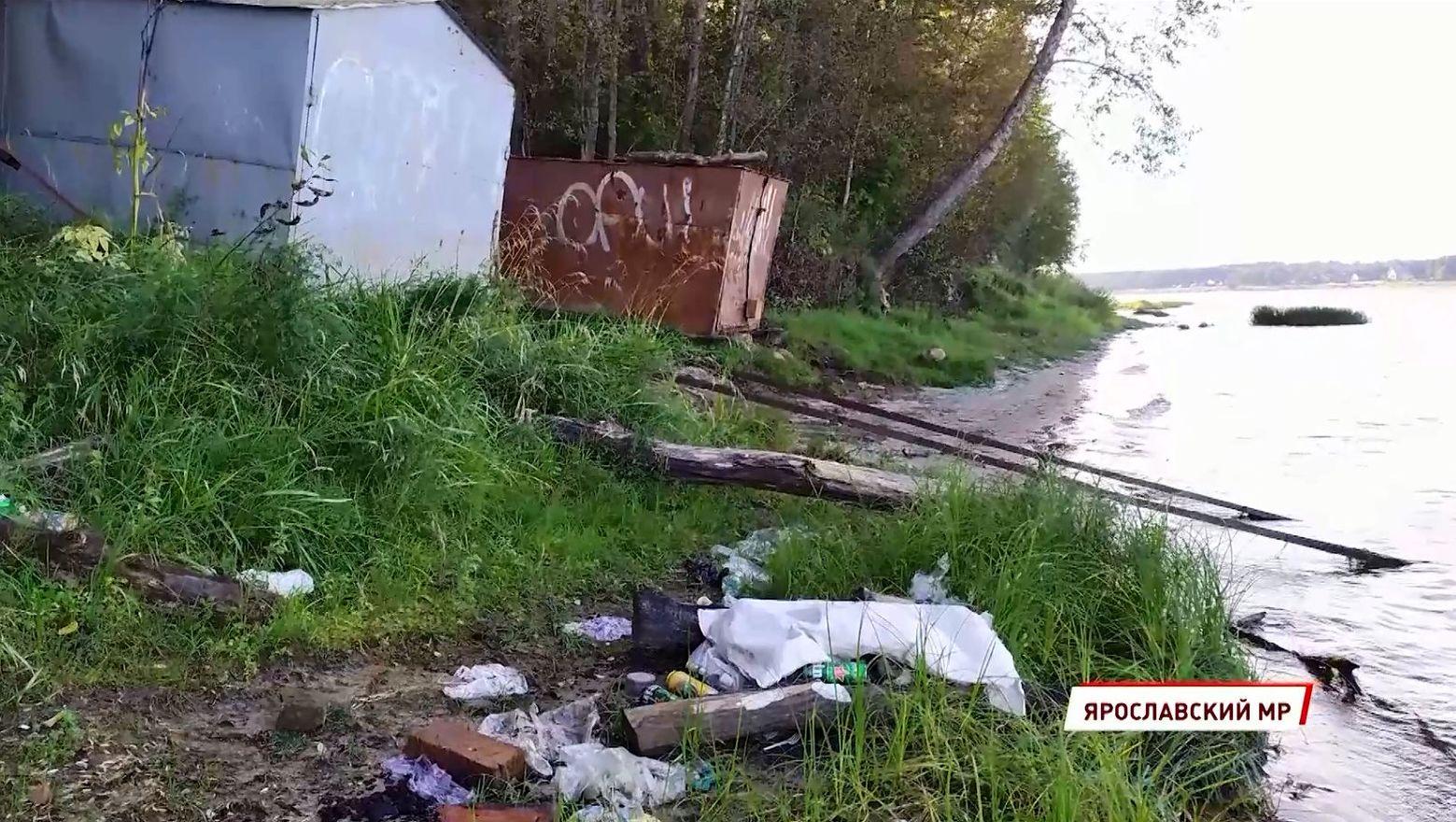 Жители посёлка Михайловский под Ярославлем пожаловались на плохое содержание берега Волги