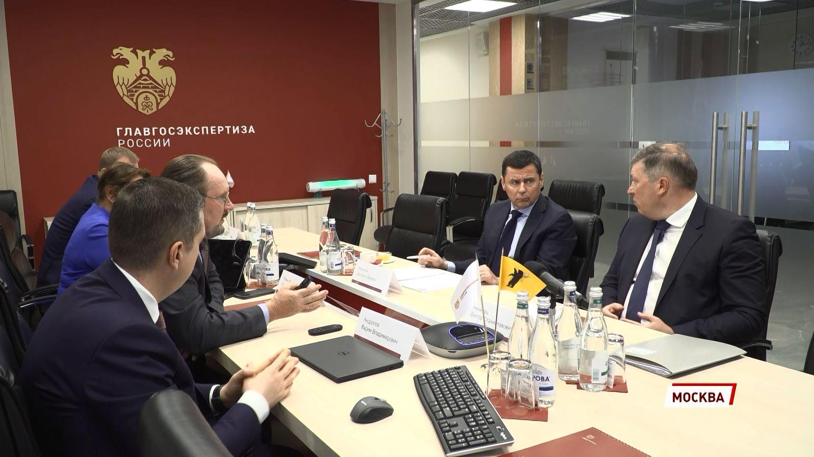Дмитрий Миронов обсудил вопросы цифровизации строительного комплекса и реализацию нацпроектов с начальником Главгосэкспертизы Игорем Маныловым