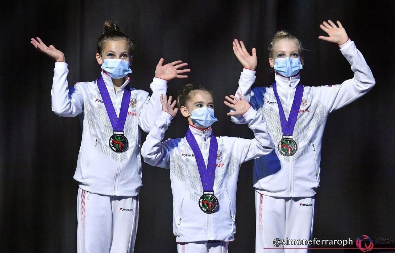 Тройка ярославских акробаток Динара Айсина, Устина Маврычева и Мария Федюнина стали победительницами первенства Европы