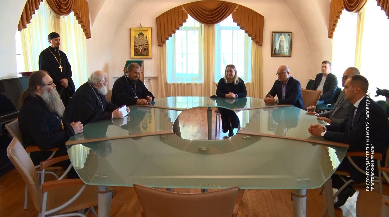 В Ярославской епархии подписали соглашение о партнерстве между Ростовским кремлем и инвестором