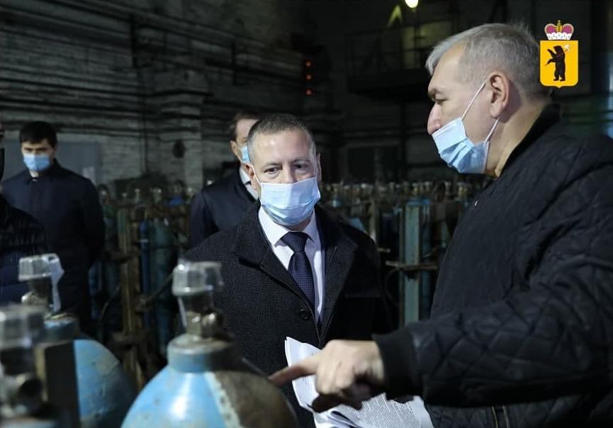 Михаил Евраев поддержал просьбу завода АКС, поставляющего кислород в больницы Ярославля и области